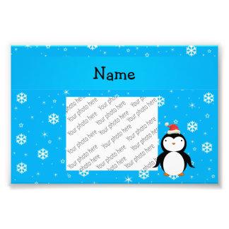 Copos de nieve conocidos personalizados del azul d cojinete