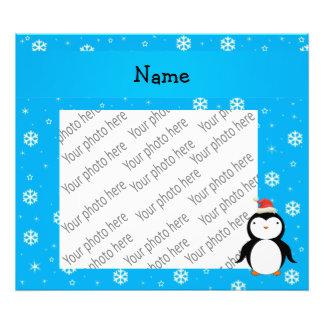 Copos de nieve conocidos personalizados del azul d impresiones fotográficas