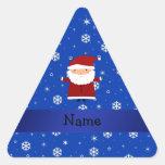 Copos de nieve conocidos personalizados del azul calcomanías triangulos personalizadas