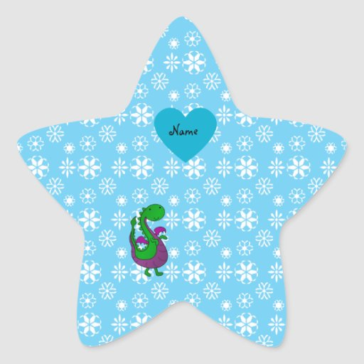 Copos de nieve conocidos personalizados del azul pegatina en forma de estrella