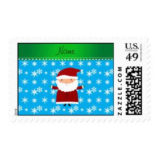 Copos de nieve conocidos personalizados del azul sello