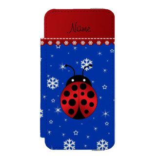 Copos de nieve conocidos personalizados del azul funda billetera para iPhone 5 watson