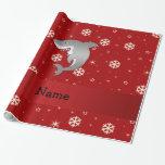 Copos de nieve conocidos personalizados del rojo
