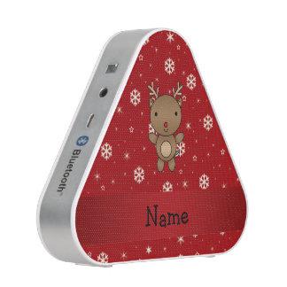 Copos de nieve conocidos personalizados del rojo altavoz bluetooth