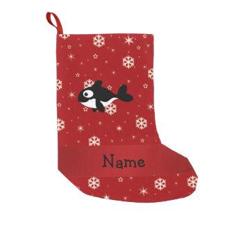 Copos de nieve conocidos personalizados del rojo bota navideña pequeña