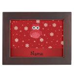 Copos de nieve conocidos personalizados del rojo caja de recuerdos