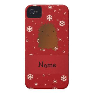 Copos de nieve conocidos personalizados del rojo Case-Mate iPhone 4 carcasa