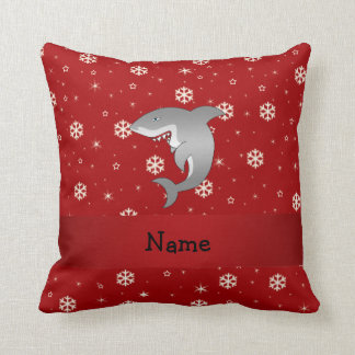 Copos de nieve conocidos personalizados del rojo cojín