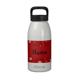 Copos de nieve conocidos personalizados del rojo d botellas de agua reutilizables