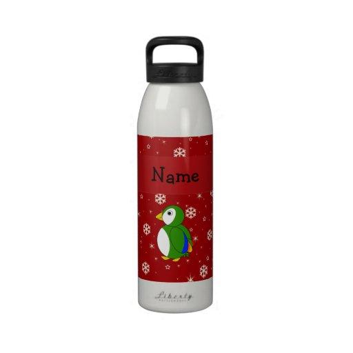 Copos de nieve conocidos personalizados del rojo d botella de agua reutilizable