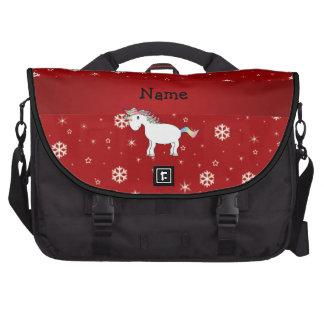 Copos de nieve conocidos personalizados del rojo d bolsas de portatil
