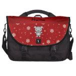 Copos de nieve conocidos personalizados del rojo d bolsas para portatil
