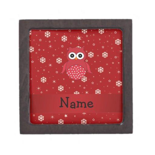 Copos de nieve conocidos personalizados del rojo d cajas de joyas de calidad