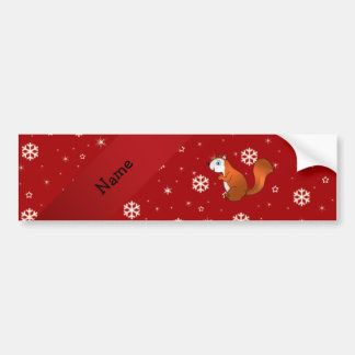 Copos de nieve conocidos personalizados del rojo d etiqueta de parachoque