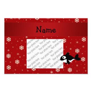Copos de nieve conocidos personalizados del rojo d cojinete