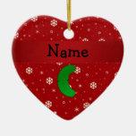 Copos de nieve conocidos personalizados del rojo d adorno