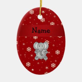 Copos de nieve conocidos personalizados del rojo d ornamento para arbol de navidad
