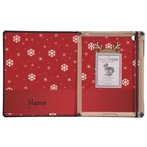 Copos de nieve conocidos personalizados del rojo d iPad fundas
