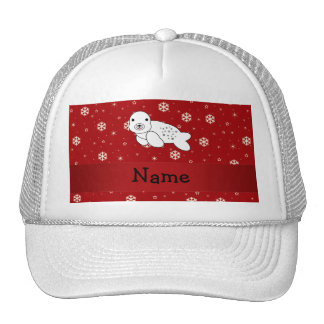 Copos de nieve conocidos personalizados del rojo d gorras de camionero