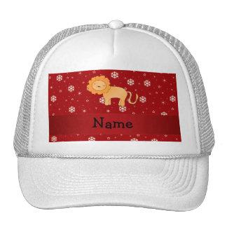 Copos de nieve conocidos personalizados del rojo d gorros bordados