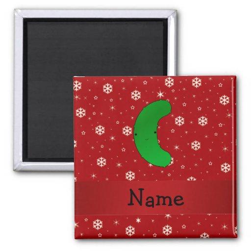 Copos de nieve conocidos personalizados del rojo d imanes