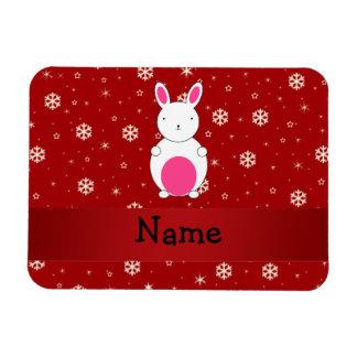 Copos de nieve conocidos personalizados del rojo d iman flexible