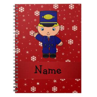 Copos de nieve conocidos personalizados del rojo d libreta