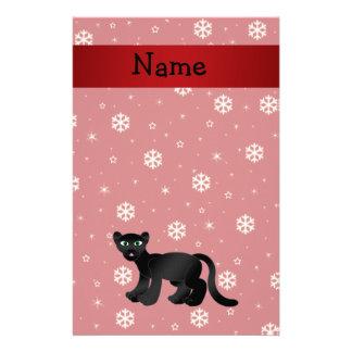 Copos de nieve conocidos personalizados del rojo d papelería personalizada