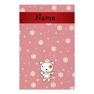 Copos de nieve conocidos personalizados del rojo d  papeleria de diseño