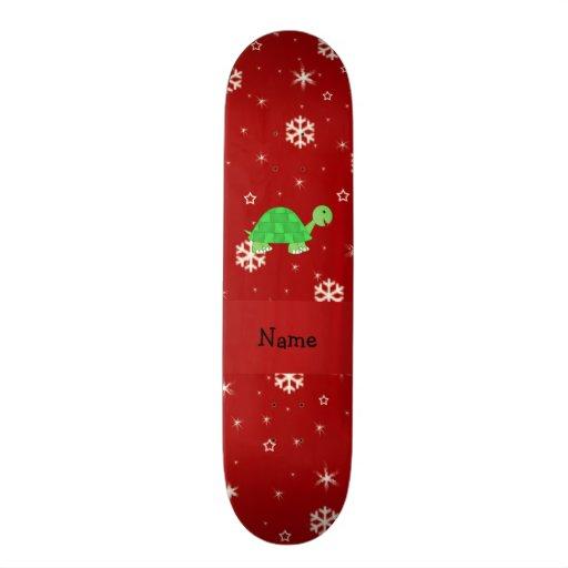 Copos de nieve conocidos personalizados del rojo d patin personalizado