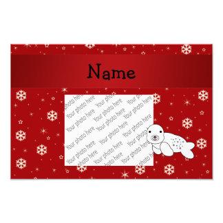 Copos de nieve conocidos personalizados del rojo d foto