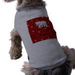 Copos de nieve conocidos personalizados del rojo d camisa de perrito
