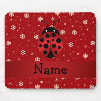 Copos de nieve conocidos personalizados del rojo d alfombrillas de raton