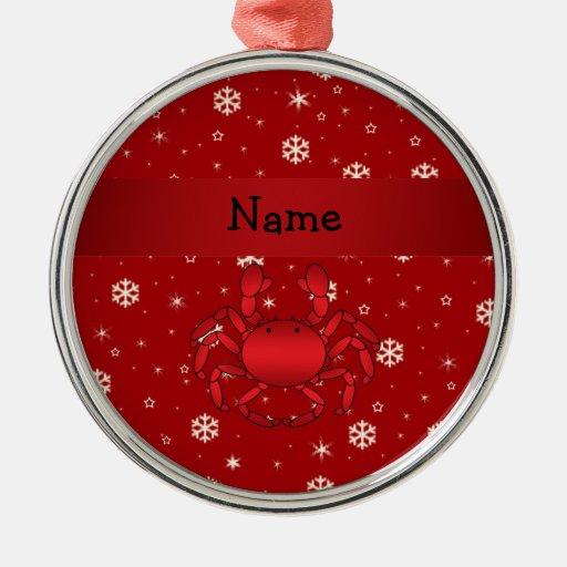 Copos de nieve conocidos personalizados del rojo ornamentos de reyes magos