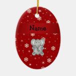 Copos de nieve conocidos personalizados del rojo ornamento para arbol de navidad