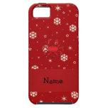 Copos de nieve conocidos personalizados del rojo iPhone 5 Case-Mate funda