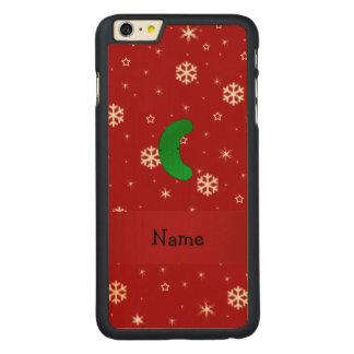 Copos de nieve conocidos personalizados del rojo funda de arce carved® para iPhone 6 plus