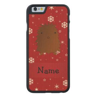 Copos de nieve conocidos personalizados del rojo funda de iPhone 6 carved® de arce