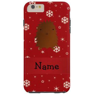 Copos de nieve conocidos personalizados del rojo funda de iPhone 6 plus tough