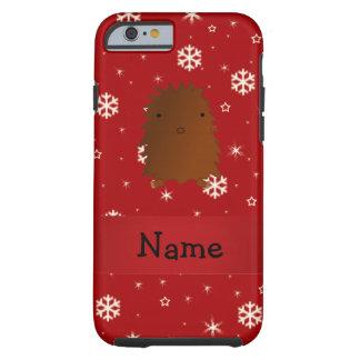 Copos de nieve conocidos personalizados del rojo funda de iPhone 6 tough