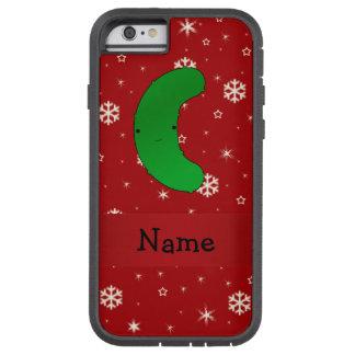 Copos de nieve conocidos personalizados del rojo funda de iPhone 6 tough xtreme
