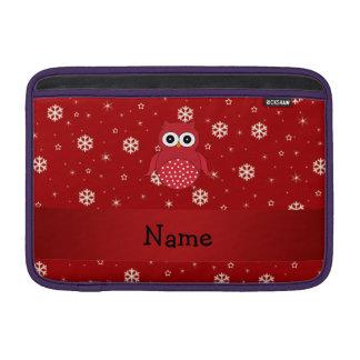 Copos de nieve conocidos personalizados del rojo funda  MacBook