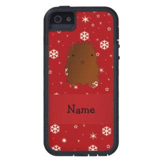 Copos de nieve conocidos personalizados del rojo funda para iPhone 5 tough xtreme