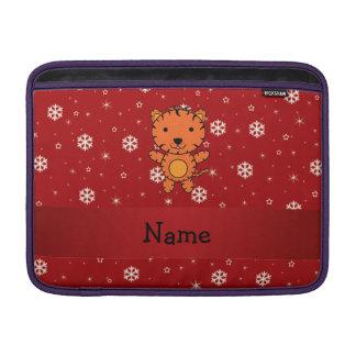 Copos de nieve conocidos personalizados del rojo funda para macbook air