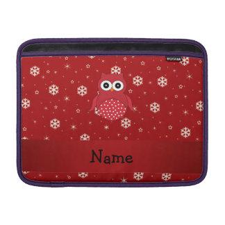 Copos de nieve conocidos personalizados del rojo fundas MacBook