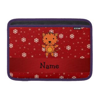 Copos de nieve conocidos personalizados del rojo fundas macbook air