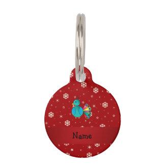 Copos de nieve conocidos personalizados del rojo identificador para mascotas