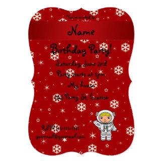 Copos de nieve conocidos personalizados del rojo comunicados personalizados