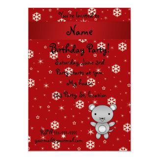 Copos de nieve conocidos personalizados del rojo invitación 12,7 x 17,8 cm