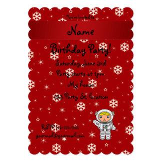 Copos de nieve conocidos personalizados del rojo invitación personalizada